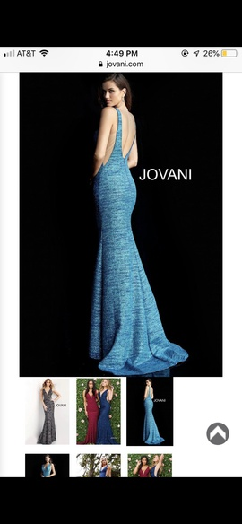 Jovani Blue Size 6 Tall Height Mermaid Dress on Queenly