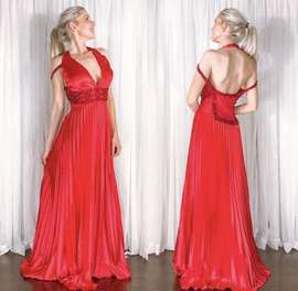 Jovani Red Size 10 Backless A-line Dress on Queenly