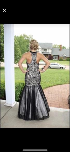 Jovani Black Size 6 Halter Mermaid Dress on Queenly