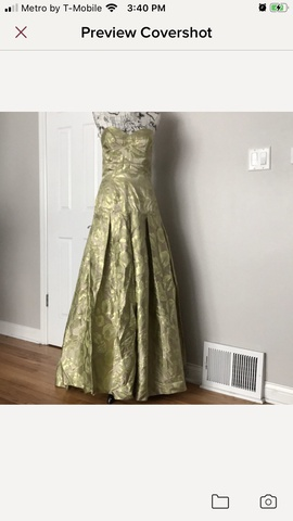Queenly size 12 Jovani Green A-line evening gown/formal dress