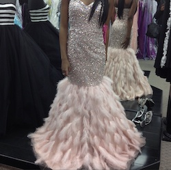 Jovani Pink Size 0 Strapless Fitted Mermaid Dress on Queenly