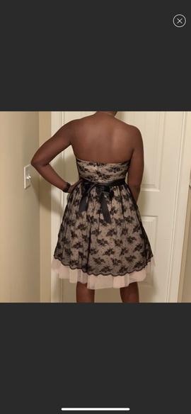B. Darlin Black Size 6 Pattern Tall Height B Darlin Cocktail Dress on Queenly