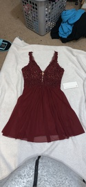 Faviana Red Size 12 Plus Size A-line Dress on Queenly