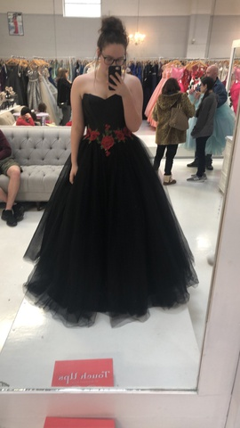 Queenly size 12  Black Ball gown evening gown/formal dress