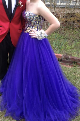 Jovani Purple Size 8 Corset Tall Height Ball gown on Queenly