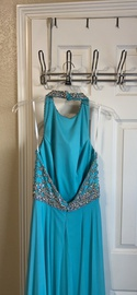 Jovani Blue Size 2 Backless Ball gown on Queenly