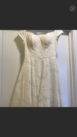 Queenly size 2 Soprano White Cocktail evening gown/formal dress