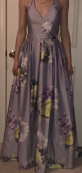 Queenly size 6  Multicolor A-line evening gown/formal dress