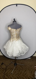 Sherri Hill Gold Size 4 Homecoming A-line Dress on Queenly