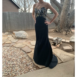 Black Size 0 Mermaid Dress on Queenly