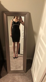 Betsy & Adam Black Size 4 Homecoming Backless Cocktail Dress on Queenly