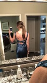 Niki Livas Green Size 4 Teal Sequin Mermaid Dress on Queenly