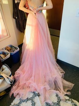 Sherri Hill Multicolor Size 2 Train A-line Dress on Queenly