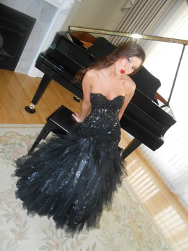 Jovani Black Size 2 Prom Strapless Mermaid Dress on Queenly