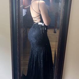 Sherri Hill Black Size 0 Prom Mermaid Dress on Queenly