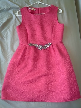 CRFS Hot Pink Size 6 Homecoming Straight Dress on Queenly
