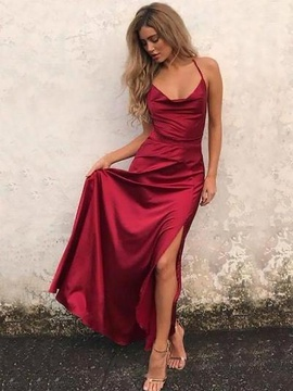 Queenly size 12  Red Side slit evening gown/formal dress