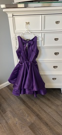 Faviana Purple Size 4 Pockets A-line Dress on Queenly