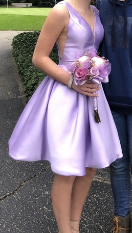 Queenly size 00 Sherri Hill Purple A-line evening gown/formal dress