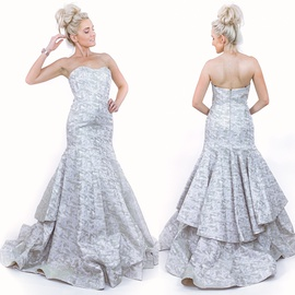 Silver Size 6 Mermaid Dress on Queenly