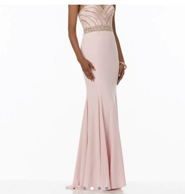 Mori Lee Pink Size 6 Train Dress on Queenly