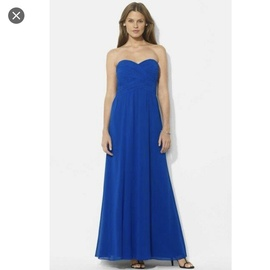 Queenly size 16  Blue A-line evening gown/formal dress