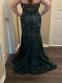 Mori Lee Green Size 20 Nude Mermaid Dress on Queenly