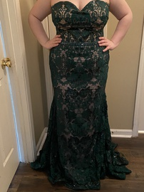 Queenly size 20 Mori Lee Green Mermaid evening gown/formal dress