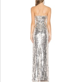 Silver Size 0 Side slit Dress on Queenly