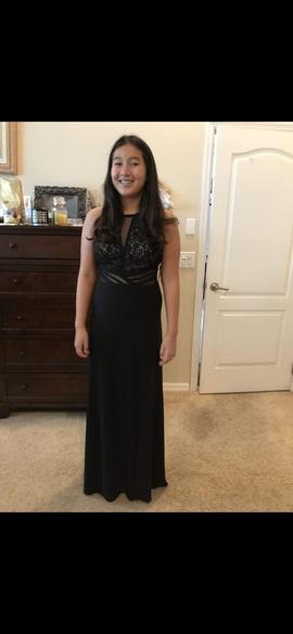 Morgan & Co Black Size 8 Side slit Dress on Queenly