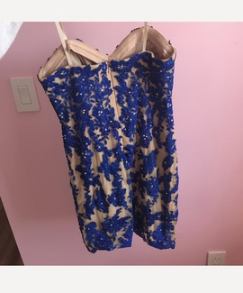 Xscape Blue Size 2 Cocktail Dress on Queenly