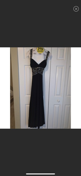 Queenly size 8 Adrianna Papell Black Straight evening gown/formal dress