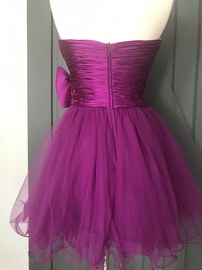 Sherri Hill Pink Size 4 Homecoming Strapless Cocktail Dress on Queenly