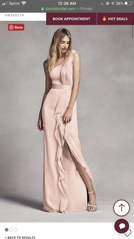 Queenly size 6  Pink Side slit evening gown/formal dress