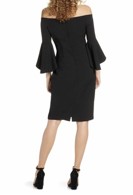 Chelsea28 Black Size 4 Long Sleeve Interview A-line Dress on Queenly