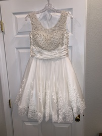 Sherri Hill White Size 8 Cocktail Dress on Queenly