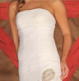 White Size 2 A-line Dress on Queenly