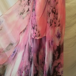 RJ Crush Pink Size 6 Print Sequin Train Dress on Queenly