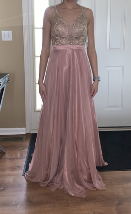 Queenly size 0 Camille La Vie Pink Ball gown evening gown/formal dress
