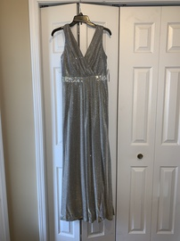 Camille La Vie Multicolor Size 6 Medium Height Side slit Dress on Queenly
