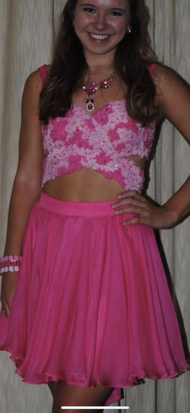 Queenly size 8 Sherri Hill Pink Cocktail evening gown/formal dress