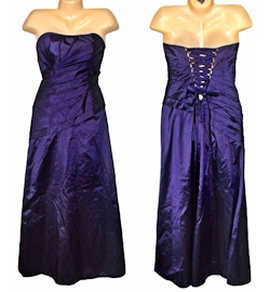 Mori Lee Purple Size 10 Corset A-line Ball gown on Queenly