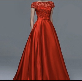 Queenly size 2  Red Ball gown evening gown/formal dress