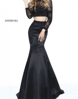 Queenly size 2  Black Mermaid evening gown/formal dress