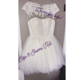 Sherri Hill White Size 8 Backless Cocktail Dress on Queenly