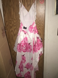B. Smart Pink Size 4 Floral Mini Train Dress on Queenly