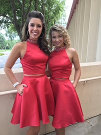 Queenly size 6 Mori Lee Red Cocktail evening gown/formal dress