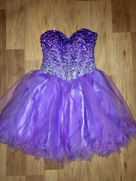 Queenly size 2  Purple Cocktail evening gown/formal dress