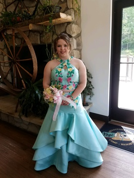 Queenly size 16  Blue Mermaid evening gown/formal dress