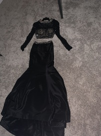 Sherri Hill Black Size 00 Mermaid Dress on Queenly